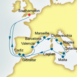 Spain Malta and Italy P&O Cruises UK Cruise