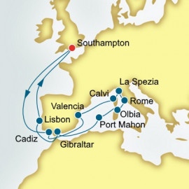 Spain Italy and Corsica Itinerary
