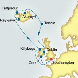 Ireland Iceland and Faroe Islands P&O Cruises UK Cruise