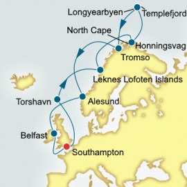 Norway and North Cape P&O Cruises UK Cruise
