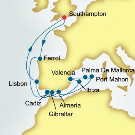 Spain Gibraltar and Portugal P&O Cruises UK Cruise