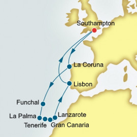 Spain and Canary Islands and Portugal P&O Cruises UK Cruise