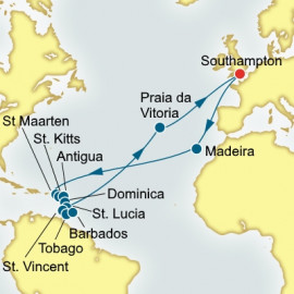 Caribbean and Azores  Itinerary