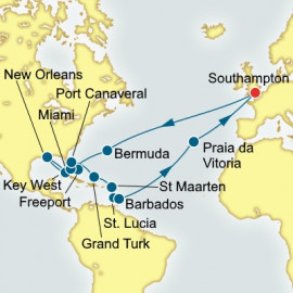 Caribbean and USA  Itinerary