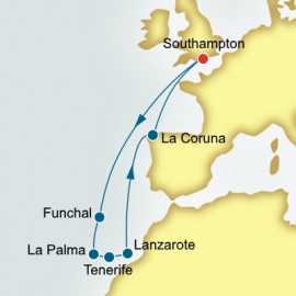 Canary Islands and Madeira and Spain  Itinerary