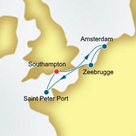 The Netherlands and Belgium and Guernsey  Itinerary