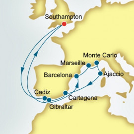Spain France and Monaco  P&O Cruises UK Cruise