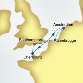 The Netherlands and Belgium and France  P&O Cruises UK Cruise