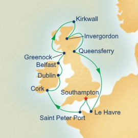 British Isles with Kirkwall Itinerary