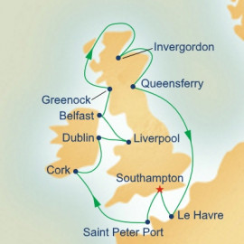 British Isles with Liverpool Itinerary