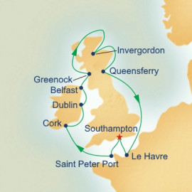 British Isles with Dublin Overnight Itinerary