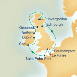 British Isles from Paris Princess Cruises Cruise