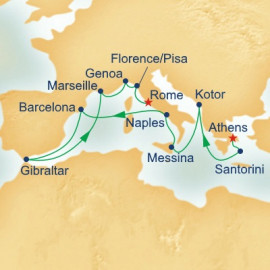 Western Mediterranean and Adriatic Medley Itinerary