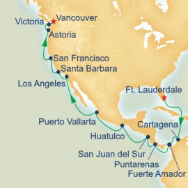 Panama Canal and Pacific Coast Itinerary