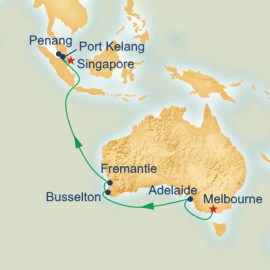 Southern Australia and Asia Itinerary