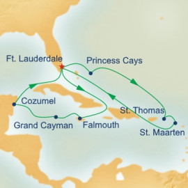 Caribbean East and West Adventurer Princess Cruises Cruise