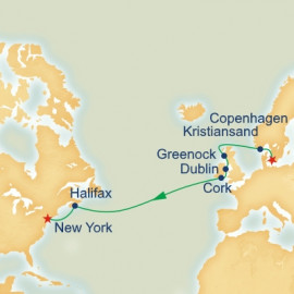 British Isles and Northern European Passage Itinerary