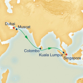 Dubai to Singapore Princess Cruises Cruise