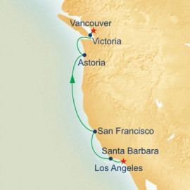 Los Angeles to Vancouver Princess Cruises Cruise