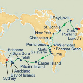 World Cruise London to Brisbane Sector Cruise