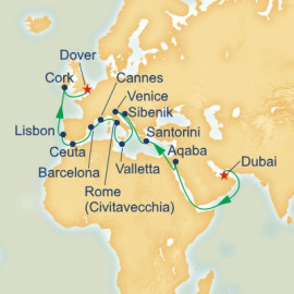 Dubai to Dover Princess Cruises Cruise