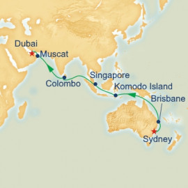 Sydney to Dubai Princess Cruises Cruise