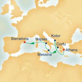 Inaugural Mediterranean and Adriatic Itinerary