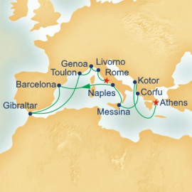 Inaugural Western Mediterranean and Adriatic Medley Itinerary