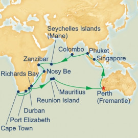Indian Ocean and South Africa Odyssey Itinerary