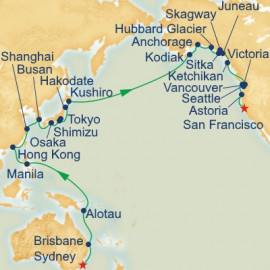 Circle Pacific Sydney to San Francisco Itinerary