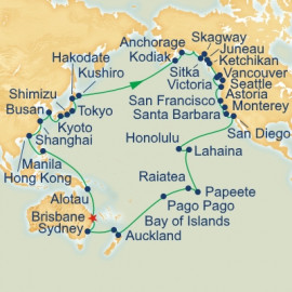 Circle Pacific from Brisbane Itinerary