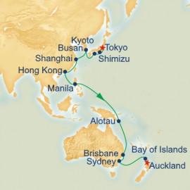 Tokyo to Auckland Cruise