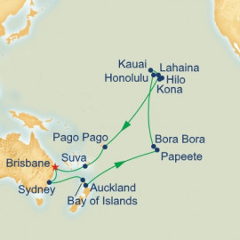 Hawaii and Tahiti and South Pacific Itinerary