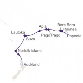 Celestial South Pacific Itinerary