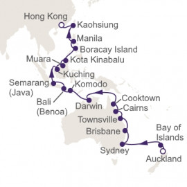Auckland to Hong Kong Itinerary