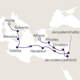 Holy Land to Vatican City Itinerary