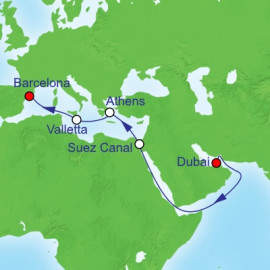 Suez Canal and Mediterranean Itinerary