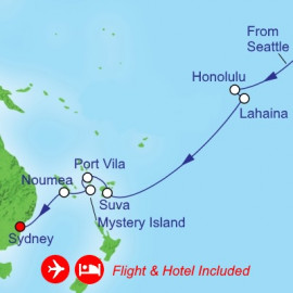 Fly Cruise Holiday Transpacific Itinerary