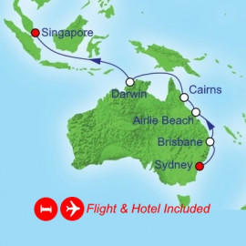 Fly Hotel Cruise Holiday Queensland Darwin Singapore Royal Caribbean Cruise