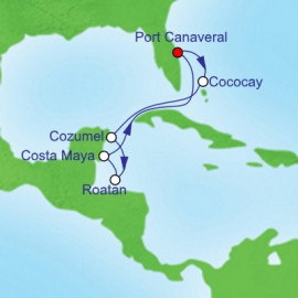Western Caribbean and Perfect Day Itinerary