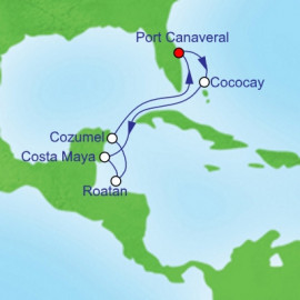 Western Caribbean Holiday Itinerary
