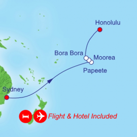 Tahiti and Hawaii Fly Itinerary