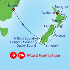 Fly Cruise Holiday New Zealand Royal Caribbean Cruise