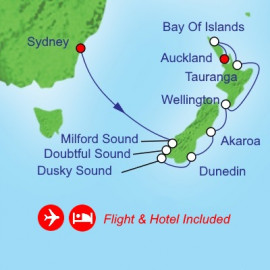 Fly Cruise Holiday New Zealand Itinerary