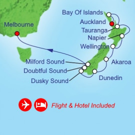 Fly Cruise Holiday New Zealand Cruise