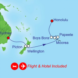 Fly Hotel Cruise Holiday New Zealand Tahiti and Hawaii Itinerary