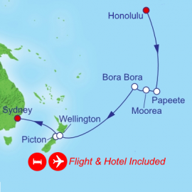 Fly Hotel Cruise Holiday Hawaii Tahiti New Zealand Royal Caribbean Cruise
