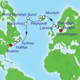 Copenhagen to Boston Royal Caribbean Cruise
