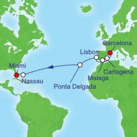 Trans Atlantic Barcelona to Miami Royal Caribbean Cruise
