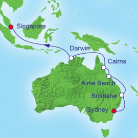 Asia Reposition Itinerary